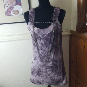 Silver Jean's chain tie dye top size large J